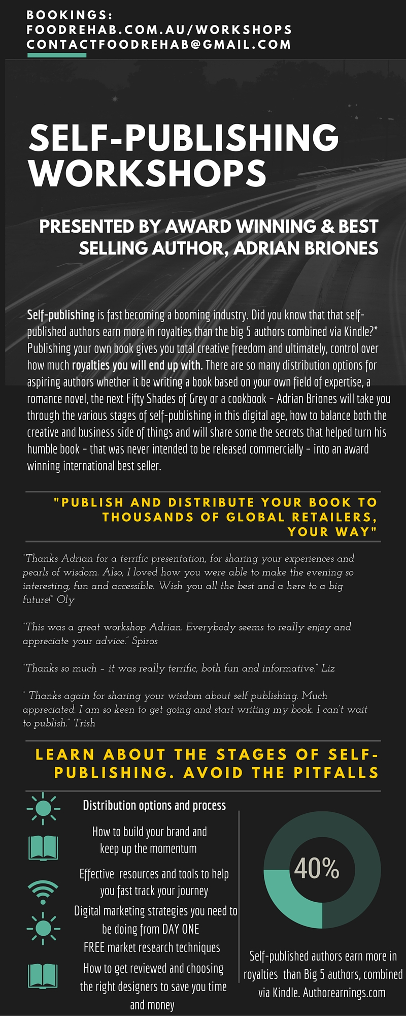 self publishing workshop australia